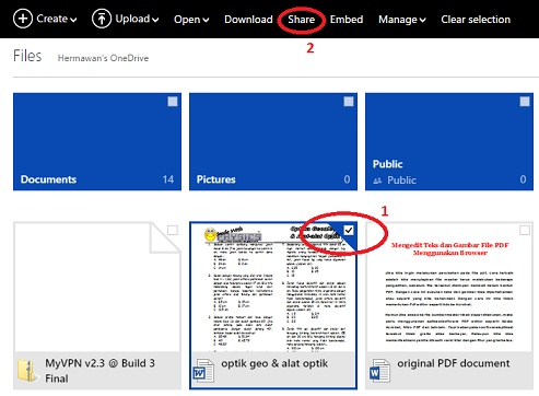Cara Upload dan Download di OneDrive 2