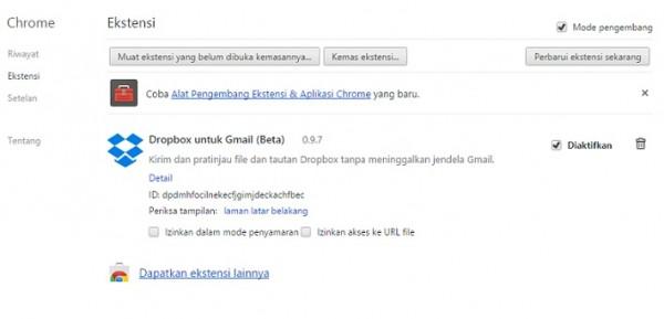 Google chrome akan memblokir Nonwebstore extension 1