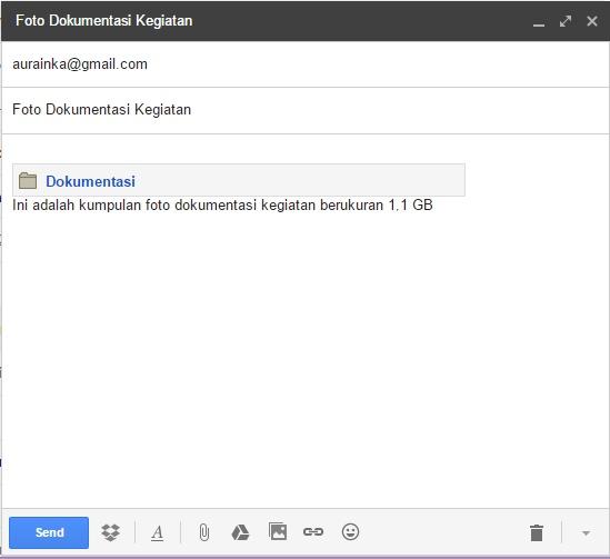 Mengirim file yang lebih besar menggunakan Dropbox for Gmail 4