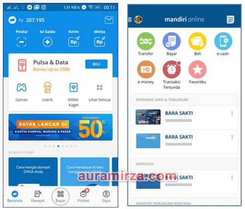 Cara Top Up Saldo Dana Via Mobile Banking Mandiri Mandiri Online min
